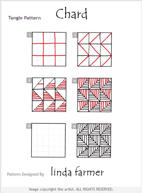 How to draw CHARD by Linda Farmer « TanglePatterns.com