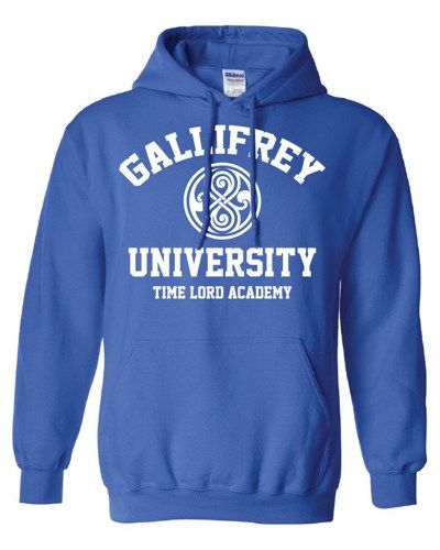 Gallifrey University Alumni Doctor Who Police public call box Tardis hoodie hooded sweatshirt Mens Ladies Womens Youth Kids Funny ML-188H