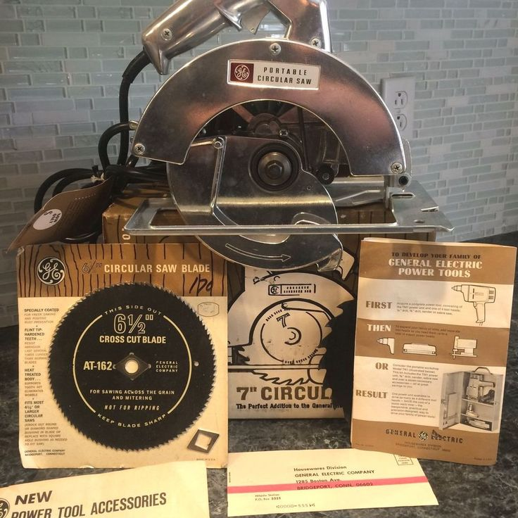 Vintage General Electric Circular Saw NIB 1960's 2 Blades TC1 ...