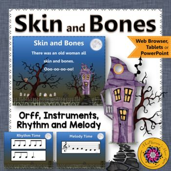 October Music Lesson Plan ~ Skin and Bones: Orff, Rhythm,