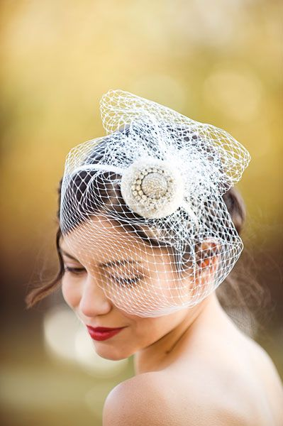 Belinda birdcage veil with diamante detail