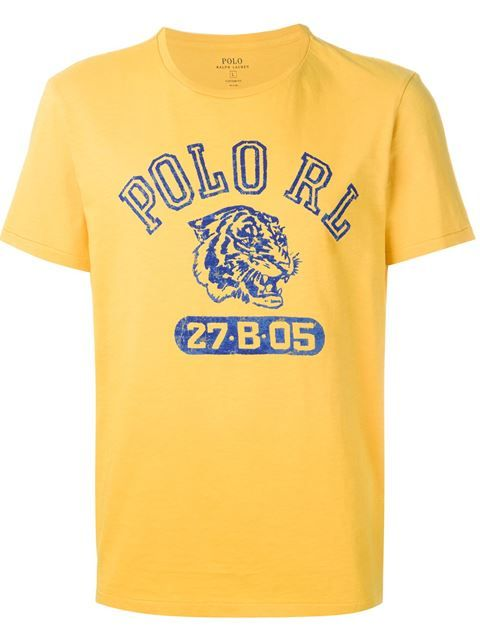 POLO RALPH LAUREN College Print T-Shirt. #poloralphlauren #cloth #t-shirt