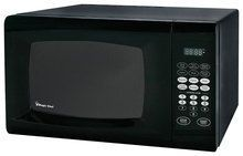 Magic Chef - 0.9 Cu. Ft. Compact Microwave - Black
