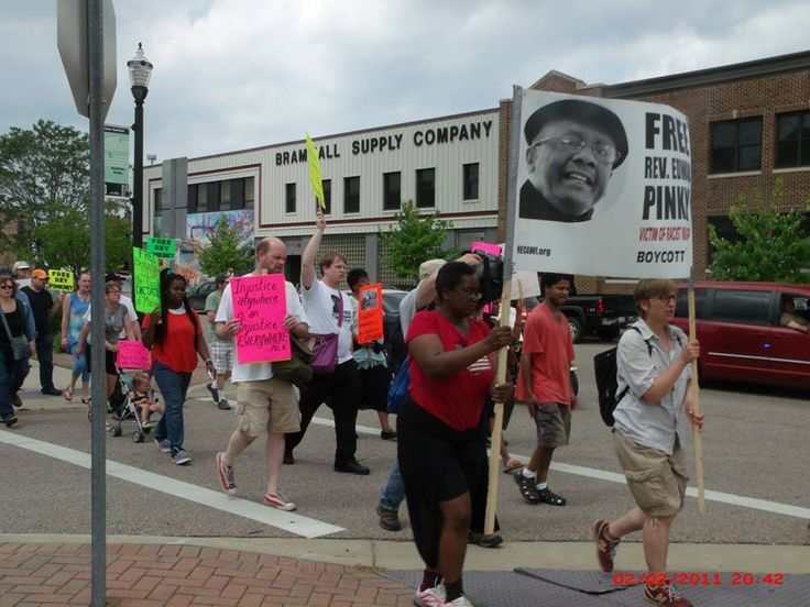 On May 28, 2016, #FreeRevPinkney supporters from Michigan and the surrounding region met in Benton Harbor to march to #OccupyPGA2016. Read more at http://www.bhbanco.org/2016/05/successful-protest-on-saturday-in.html and for more pictures, go to https://www.facebook.com/media/set/?set=a.555197847995838.1073741830.527827594066197