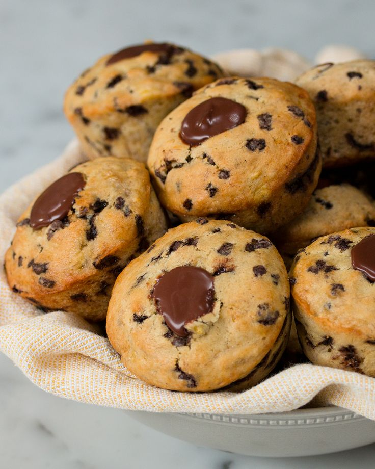 Chocolate-Filled Banana Muffins Recipe by Tasty
