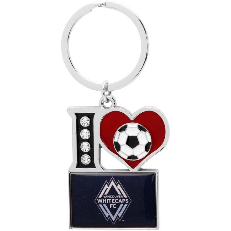 Vancouver Whitecaps FC I Love Soccer Keychain