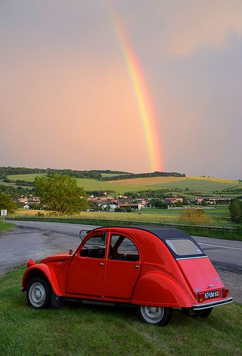 #Citroen 2 CV Under the rainbow.