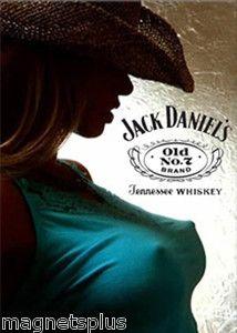 Jack Daniels Girls   Jack-Daniels-Sexy-Girl-4-T-Shirt-Beer-Fridge-Tool-Box-Locker-Man-Cave ...