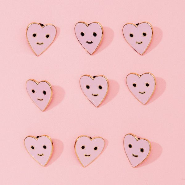 happy heart pin