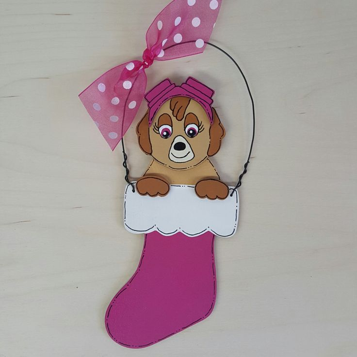 A personal favorite from my Etsy shop https://www.etsy.com/listing/464168214/skye-paw-patrol-christmas-ornament-rocky