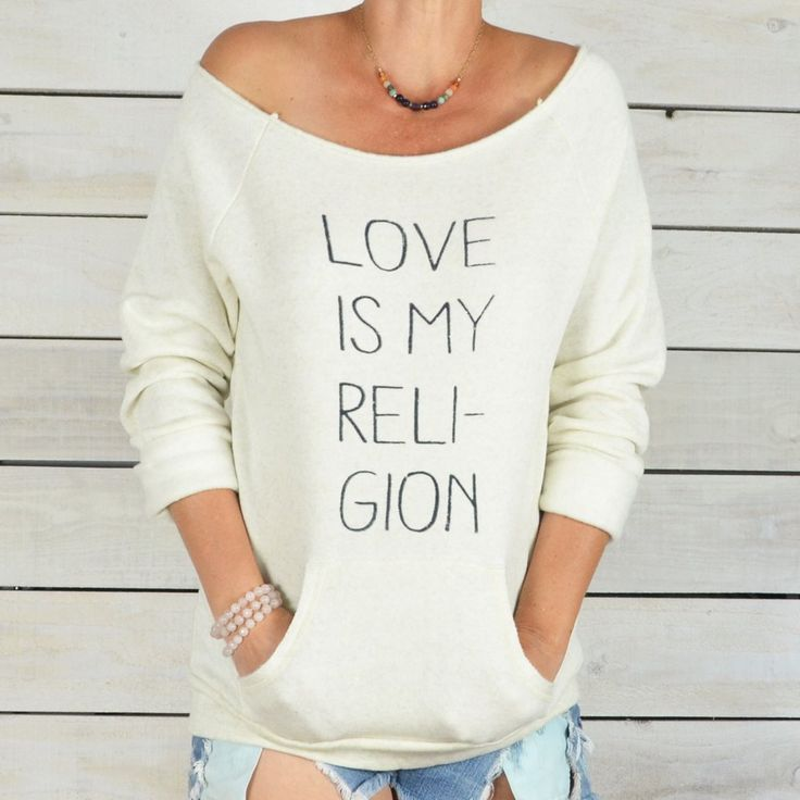 Love Is My Religion - Dancer Neck Fleece Sweatshirt