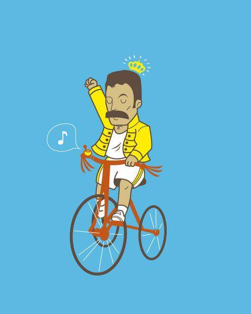 sometimes I do feel like Freddy Mercury when I ride a bike and sing at the same time :D