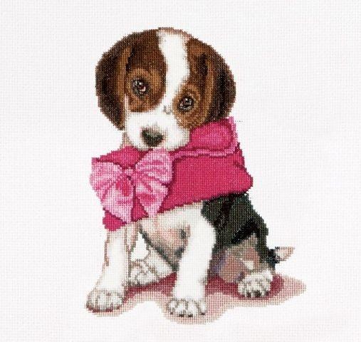 Borduren: Thea Gouverneur Puppy Love Borduurpakket