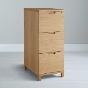 3 Drawer Wooden Filing Cabinet