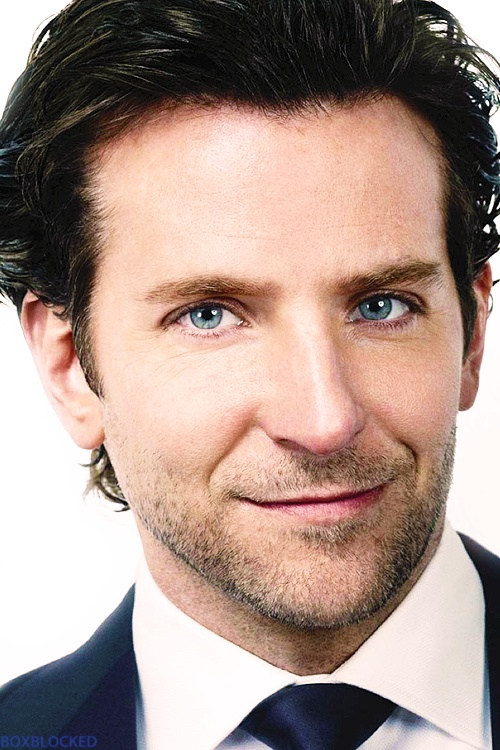 Bradley Cooper. Seriously, men shouldn't have eyelashes like that.