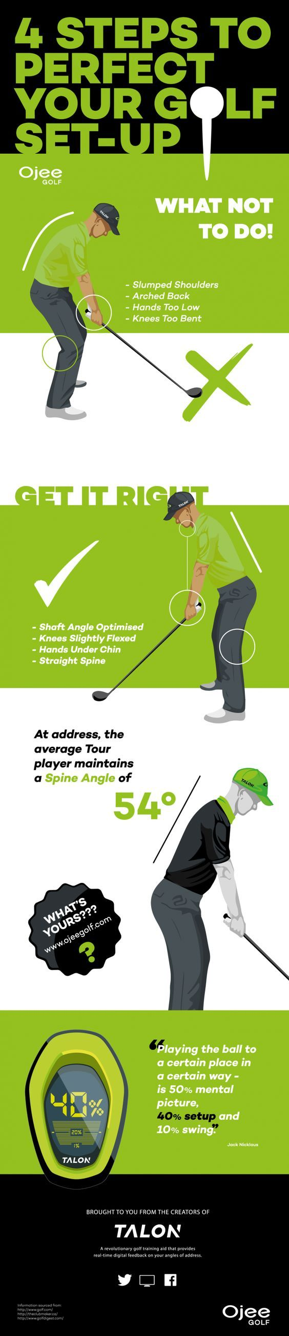 Steps how to perfect your golf setup | Find more golf ideas, quotes, and tips at #lorisgolfshoppe
