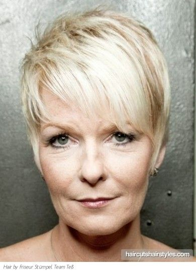 Valuable edgy haircut for mature woman