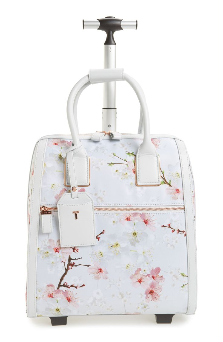7 Cute Luggage Pieces to Travel with - Ted Baker Alayaa Cherry Blossom Two-Wheel Travel Bag from InStyle.com