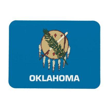 Patriotic flexible magnet with Oklahoma flag - personalize cyo diy design unique