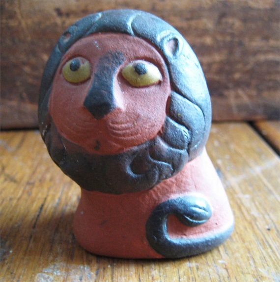 Thyssen Pottery Lion Terracotta Keramik Denmark by icondesign