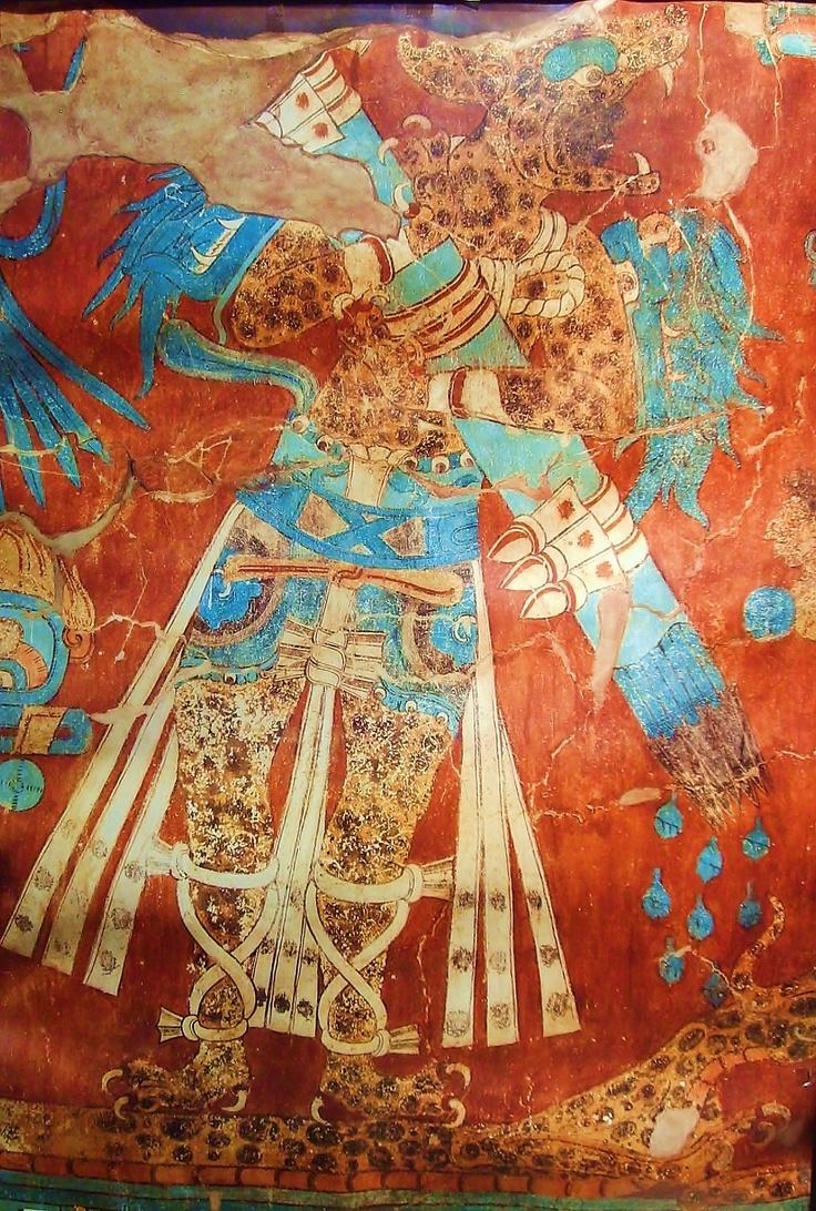 Cacaxtla Mural Hombre Jaguar