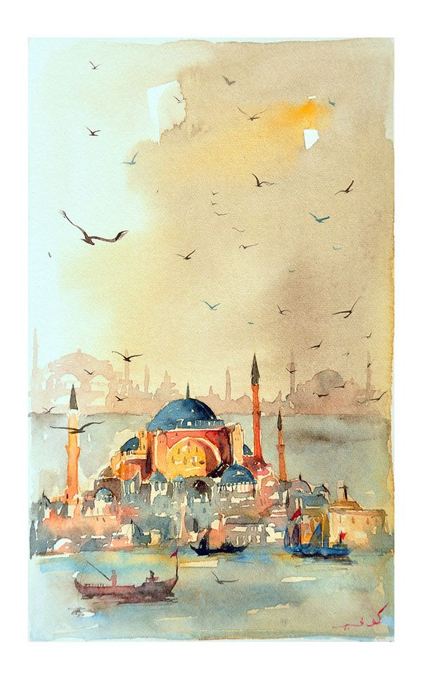 İstanbul watercolor on Behance
