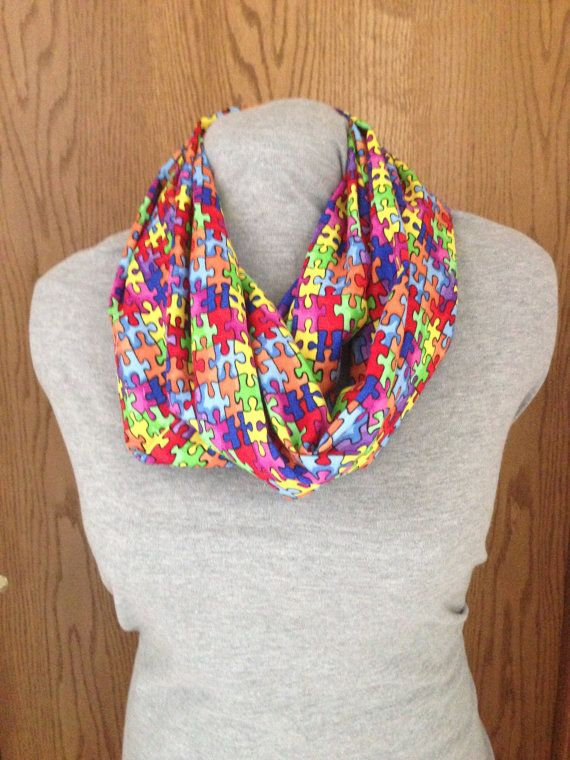 Autism Infinity scarf by KruseKreations22 on Etsy, $20.00 #autism #autizmus #oautizme #moda #fashion