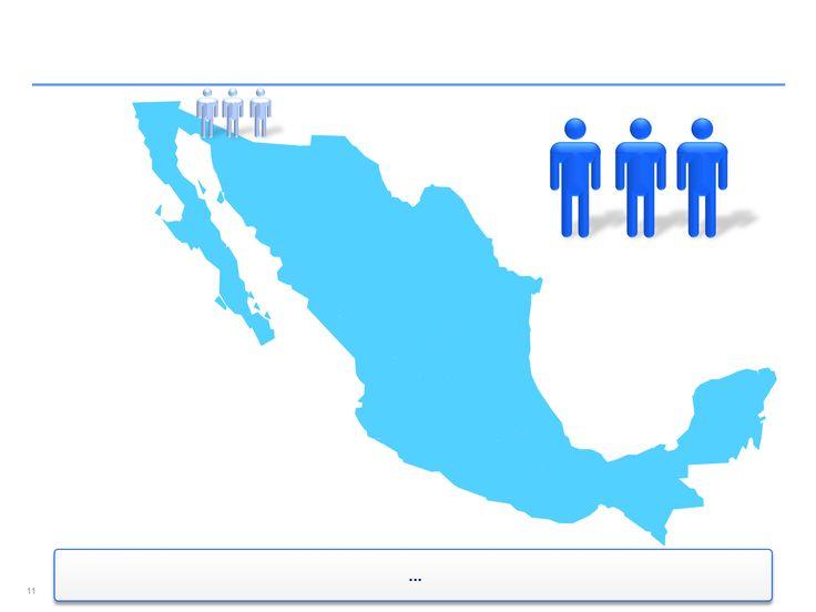 mapa interactivo de México en Power Point