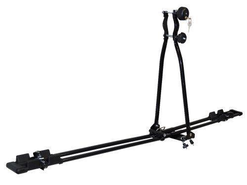 EUFAB 12014 Porte-vélo de toit Super Bike: Avec rail à double tube stable, plat et aérodynamique. Deux porte-vélos variables en plastique…