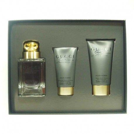 Estuche promocional del #perfume Gucci Made to Measure para hombre de #Gucci  https://perfumesana.com/gucci-marca/457-gucci-made-to-measure-estuche-edt-90-ml-spray-shower-gel-50-ml-after-shave-balm-75-ml-737052729527.html
