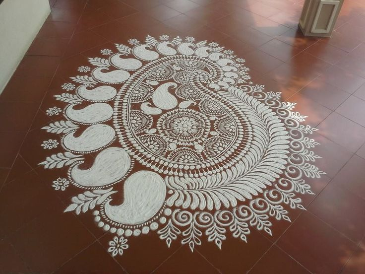 Kolam Rangoli. So beautiful!