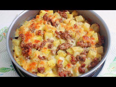 Запеканка из Картофеля с Мясом и Сыром. Вкусно!