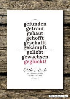 Druck/Wandbild: Geschenkidee Zur Goldenen Hochzeit