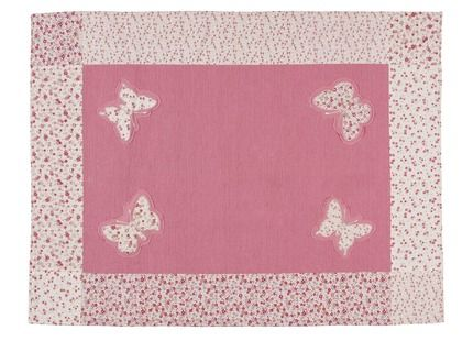 Laura Ashley Bella Butterfly Pink Cotton Rug