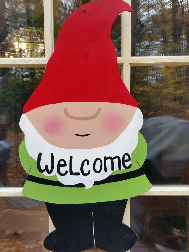Gnome Door Decor,Summer Door Hanger,Summer Welcome sign, gnome door hanger,  gnome welcome sign, everyday door hanger by MoniLulis on Etsy https://www.etsy.com/listing/189384176/gnome-door-decorsummer-door-hangersummer