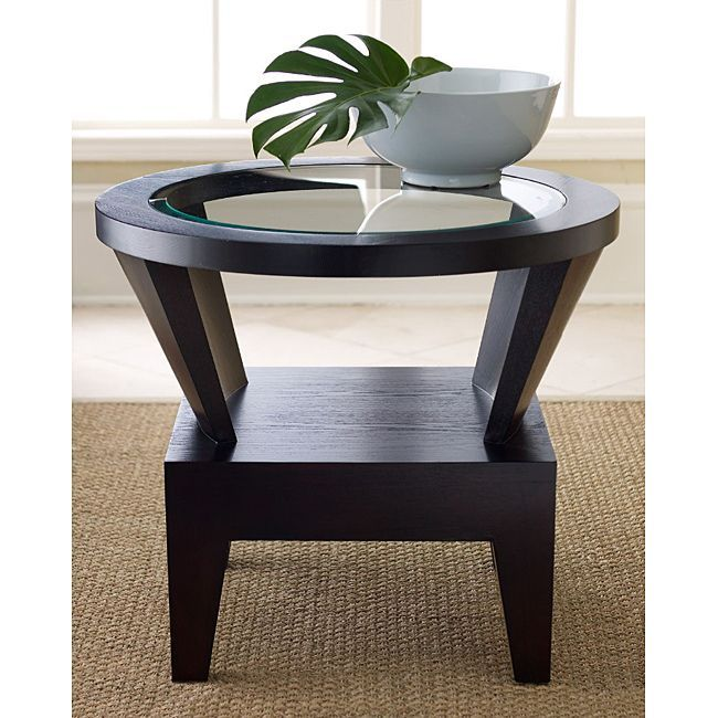 Perfect Accentuate Your Living Space With This Round Espresso Finished End Table.  Made From Solid Amazing Design