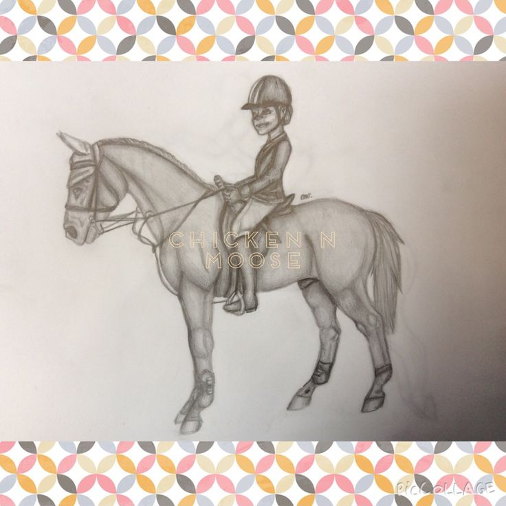 Here is an example of a girl and her horse.