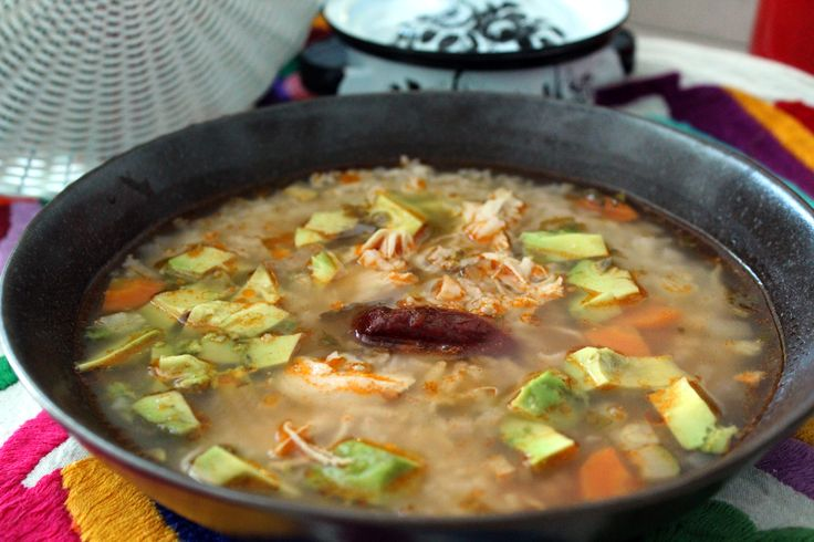 Caldo Tlalpeño is a delicious Mexican spicy chicken soup with rice and vegetables.