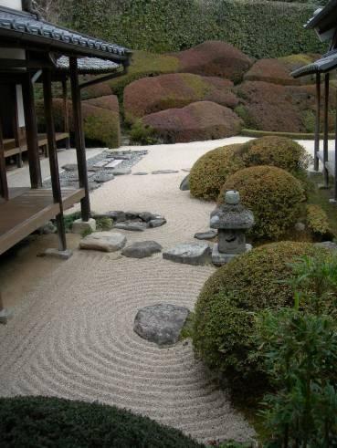 jardn zen exterior de casa japonesa