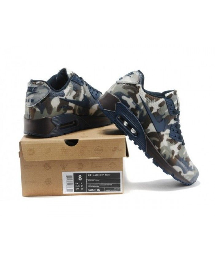 best service 92035 ec7ca Men s Nike Air Max 90 Hyp Kpu Tpu 2014 Camo Dark Blue 6809331-672