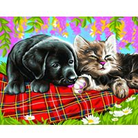 Painting By Numbers - New Friends - PBN1107 | Hobbies The Masterpiece Senior range of painting by numbers are for the more experienced artist. Contents: Pre-printed board, acrylic paints, brush and instruction sheet.