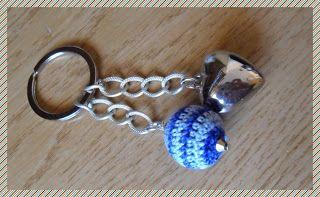 Silvia Jewellery of Style: Portachiavi con cuore e perla in legno lana uncine...