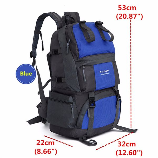 Men Women Practical Outdoor Travel Sports Waterproof Nylon Casual Large Capacity 50L Backpack Online - NewChic Mobile