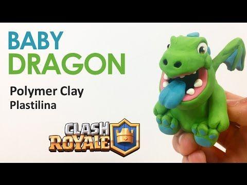 BABY DRAGON (Clash Royale) - Polymer Clay Tutorial