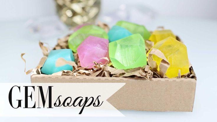 DIY Tumblr Gem Soap | Gift Ideas Party Favors | ANN LE