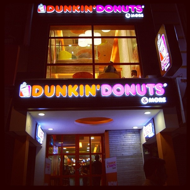 Exterior of Dunkin' Donuts' first restaurant in New Delhi, India.