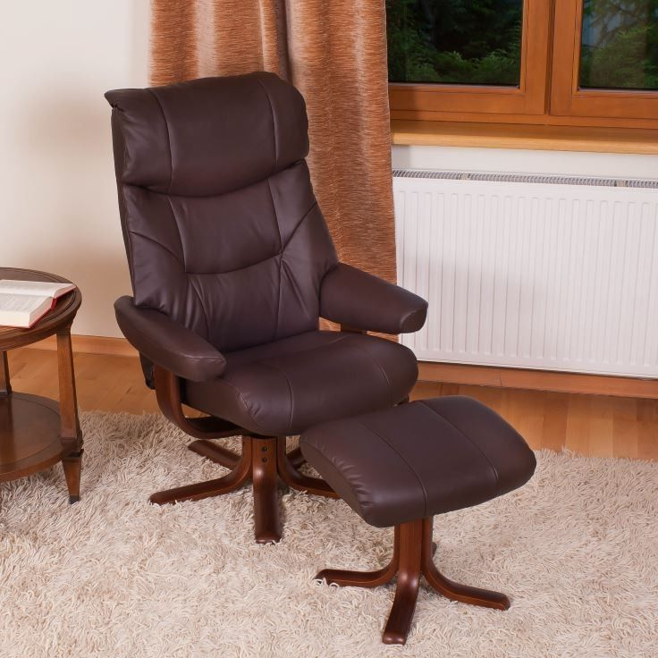 Elano Golf Faux Leather Swivel Recliner Chair #ReclinerChair This recliner is simple to recline. By leaning back your body weight will recline the chair and, as you lean forward, the chair will return to its original upright position. This model is fitted with a recline tensioner under the front of the seat cushion. This model is our top selling recliner to narrowboats and caravans.