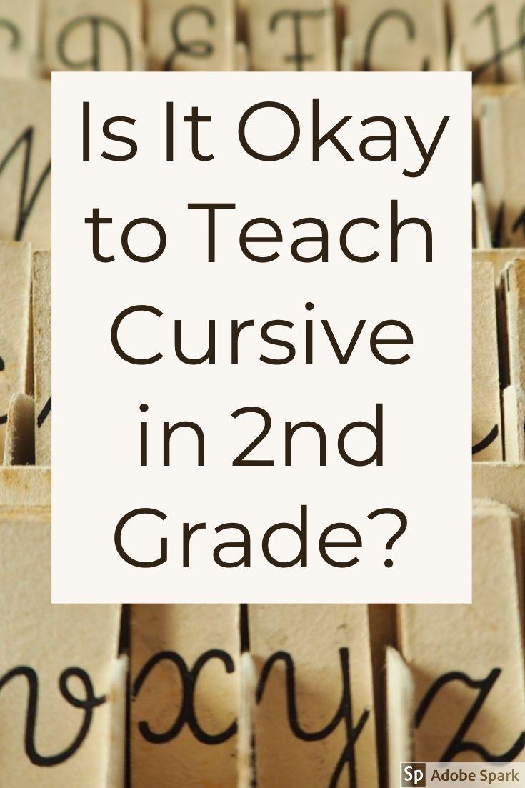 Should You Teach Cursive Early Teacher Tips Pinterest