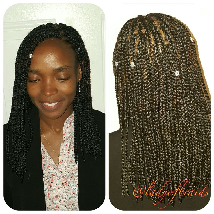 Protective hairstyles hair extensions single braids bob ...