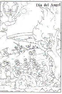 """El 1 de Marzo se celebra en Mendavia el """"Día del Ángel"""" como anuncio de la primavera.  La tradición marca que mayores y niños vayan al campo, al término de """"La Maruja"""", a Legarda, a """"Veraza"""" o a """"La barca"""" a merendar en cuadrilla la típica tortilla con chorizo y de postre una naranja.  Actualmente se sigue celebrando en las casas pues cada vez son menos los que van al campo. #mendavia #navarra"""